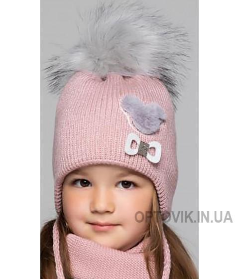 Детская вязаная шапка D684315-44-48 Алекса