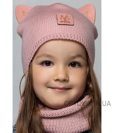 Детская вязаная шапка D697285-44-48 Лисичка