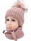 Детский вязаный комплект SX17K-415-46-48 Лилли