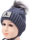 Детская вязаная шапка D612295-46-50 Алекс