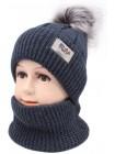 Детская вязаная шапка Дог 34 лукас 380-46-50