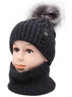 Детская вязаная шапка D-22K 375-52-54 Платон