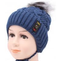Детская вязаная шапка №9190 Арсен -52-54