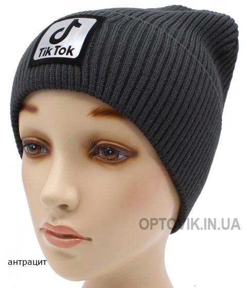 Детская вязаная шапка №58120 тик ток-54-56 №4
