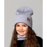 Детская вязаная шапка Модерн Girl D78531-50-54