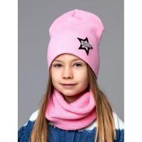 Детская вязаная шапка Стар D74730-50-54