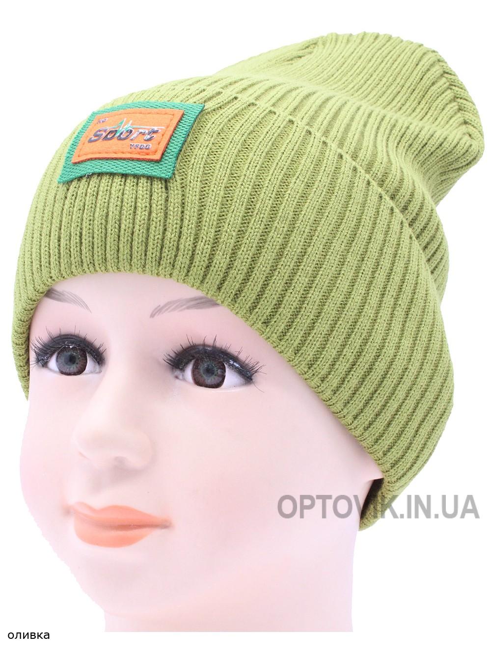 Детская вязаная шапка №036185-52-54