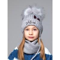 Детская вязаная шапка Алекса D70736-48-52