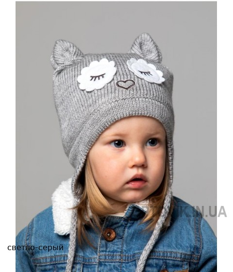 Детская вязаная шапка Сова D76932-44-48