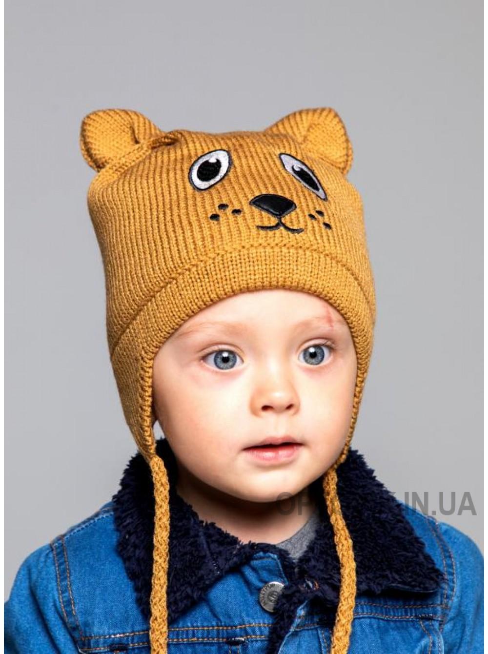 Детская вязаная шапка Песик D77332-44-48